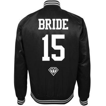 Football Bride Bachelorette Party Custom Bomber