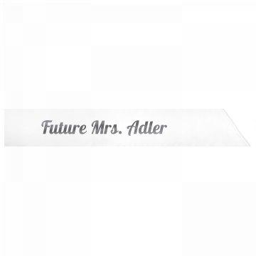Future Mrs. Adler