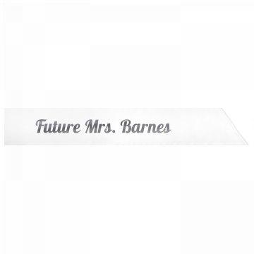 Future Mrs. Barnes
