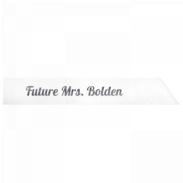 Future Mrs. Bolden