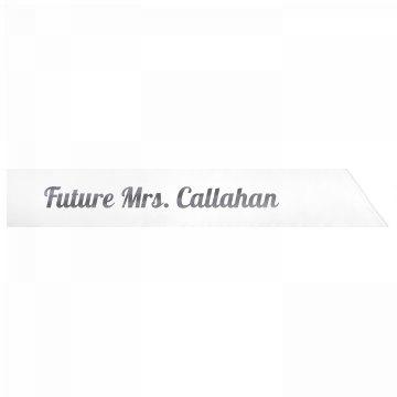 Future Mrs. Callahan