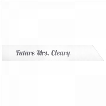 Future Mrs. Cleary