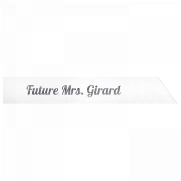 Future Mrs. Girard