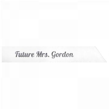 Future Mrs. Gordon