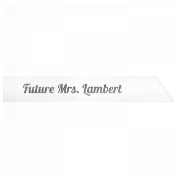Future Mrs. Lambert