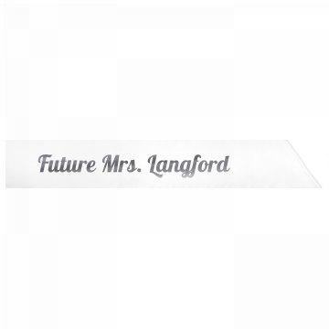 Future Mrs. Langford