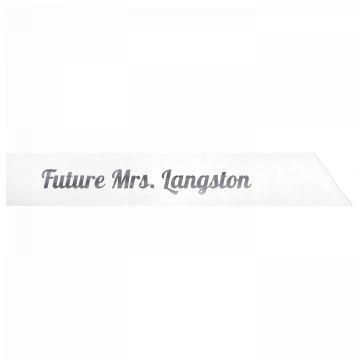 Future Mrs. Langston