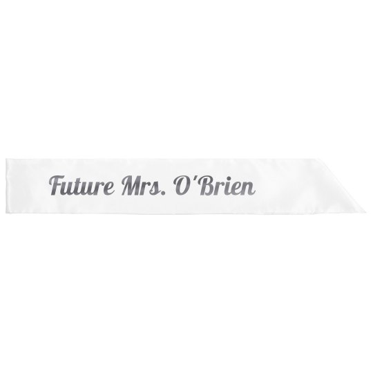 Future Mrs. O'Brien