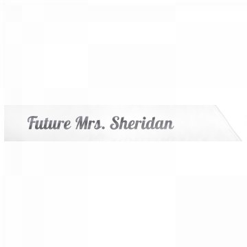 Future Mrs. Sheridan