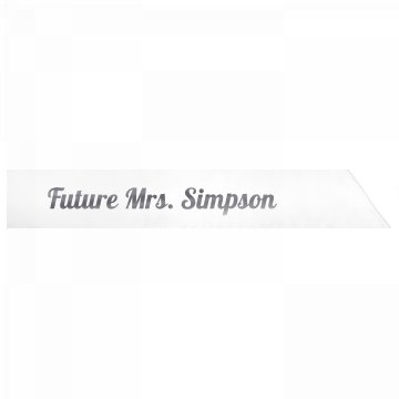 Future Mrs. Simpson