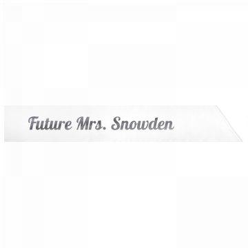 Future Mrs. Snowden