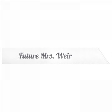 Future Mrs. Weir
