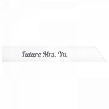 Future Mrs. Yu