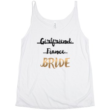 Girlfriend Fiance Bride Metallic
