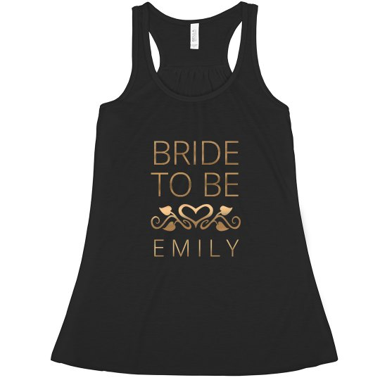 Gold Bride To Be Heart