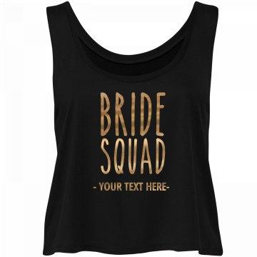 Gold Metallic Bride Squad