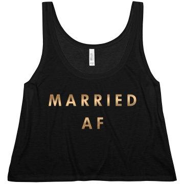 Gold Metallic Married AF