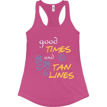 Good Times and Tan Lines Honeymoon Tank