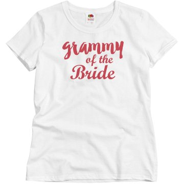 Grammy of the Bride Cute Wedding Party Woman's T-shirt