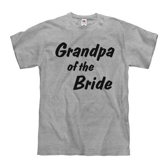 Grandpa of the Bride Men's bridal party T-Shirt