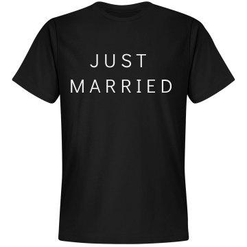 Groom just married tee