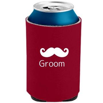 Groom Mustache Koozie