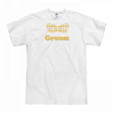 Groom Yellow Bow Tie Tee