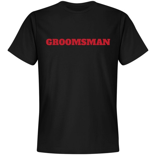 Groomsman - Red on Black