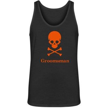 Halloween Wedding Groomsman Tank top