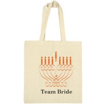 Hanukkah Wedding Totebag