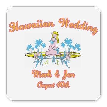 Hawaiian Wedding Magnet