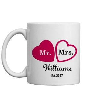 Heart Coffee Mugs Favors