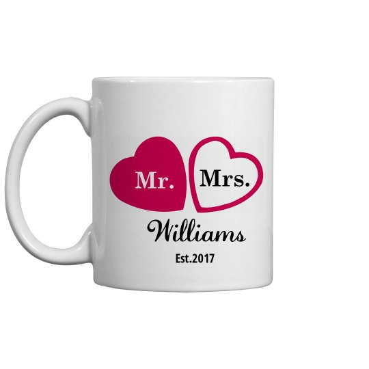 Heart Coffee Mugs Favors