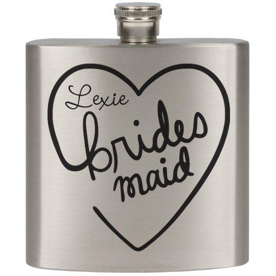 Heart Flasks Bridesmaid
