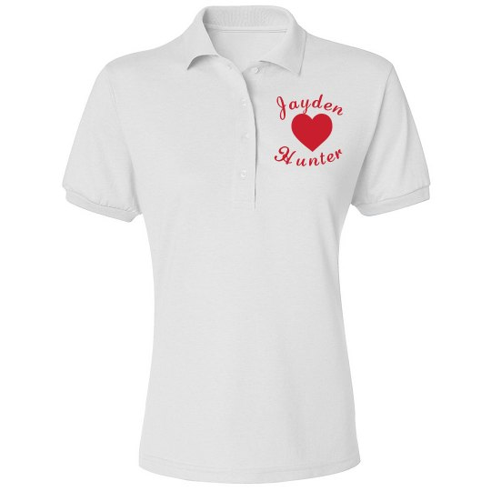 Heart On Chest Button Up