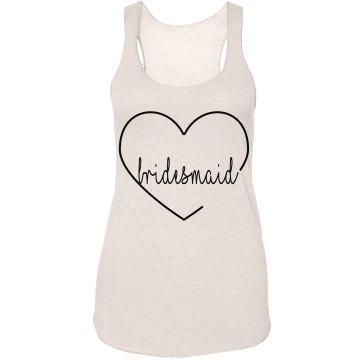 Hearted Bridesmaid