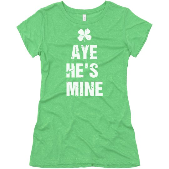 He's Mine Irish Matching Tee