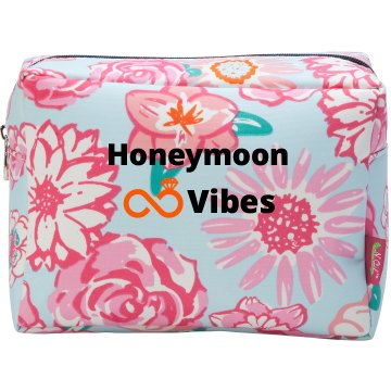 Honeymoon Vibes Cosmetic Bag