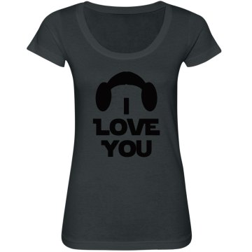 I Love You, Wife or Mrs. Couples Shirt, triblend scoop