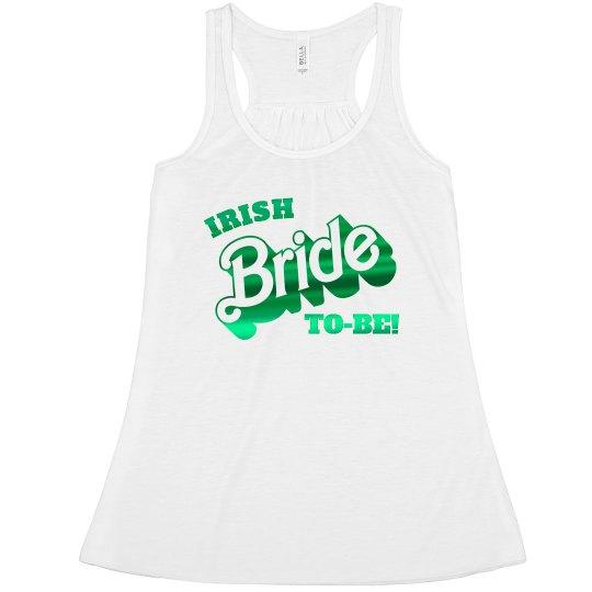 Irish Bride To Be Green Metallic