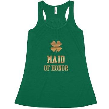 Irish Maid of Honor Gold Tank Top
