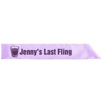 Jenny's Last Fling Sash