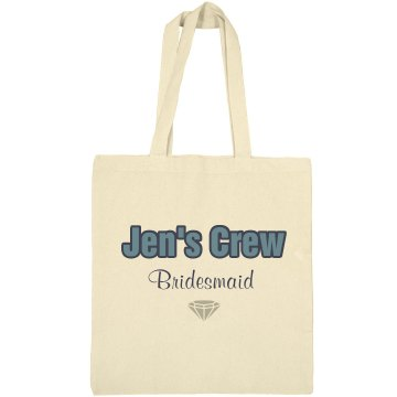 Jen's Bridesmaid Tote Bag