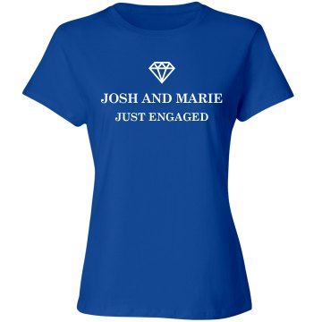 Just Engaged Bride's Tee