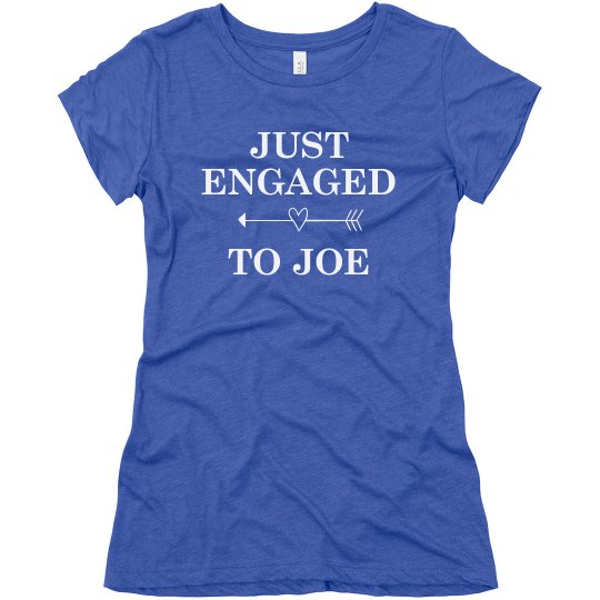 Just Engaged Heart Girl
