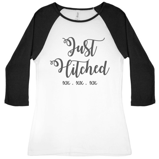 Just Hitched Custom Date Raglan