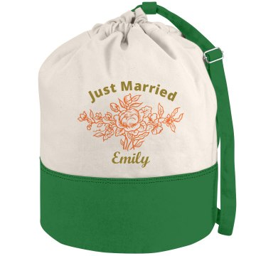 Just Married Beach Bag