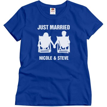 Just Married Beach Style Shirt