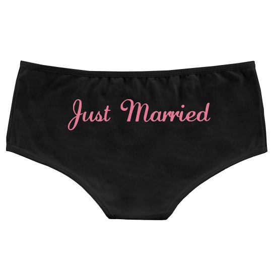 Just Married Bridal Panties