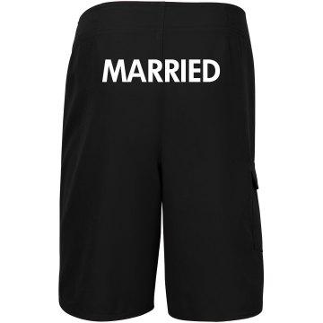 Just Married Matching Groom Honeymoon Swimsuit